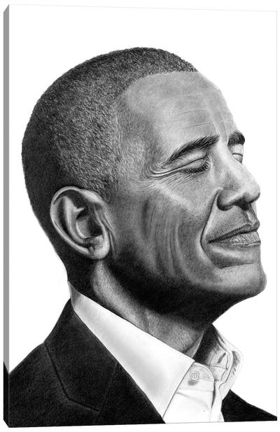 Obama II Canvas Art Print