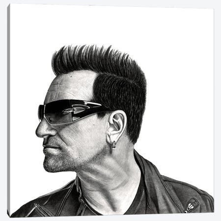 Bono Canvas Print #PSW8} by Paul Stowe Canvas Art Print