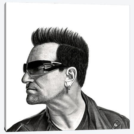 Bono Canvas Print #PSW8} by Paul Stowe Canvas Art Print