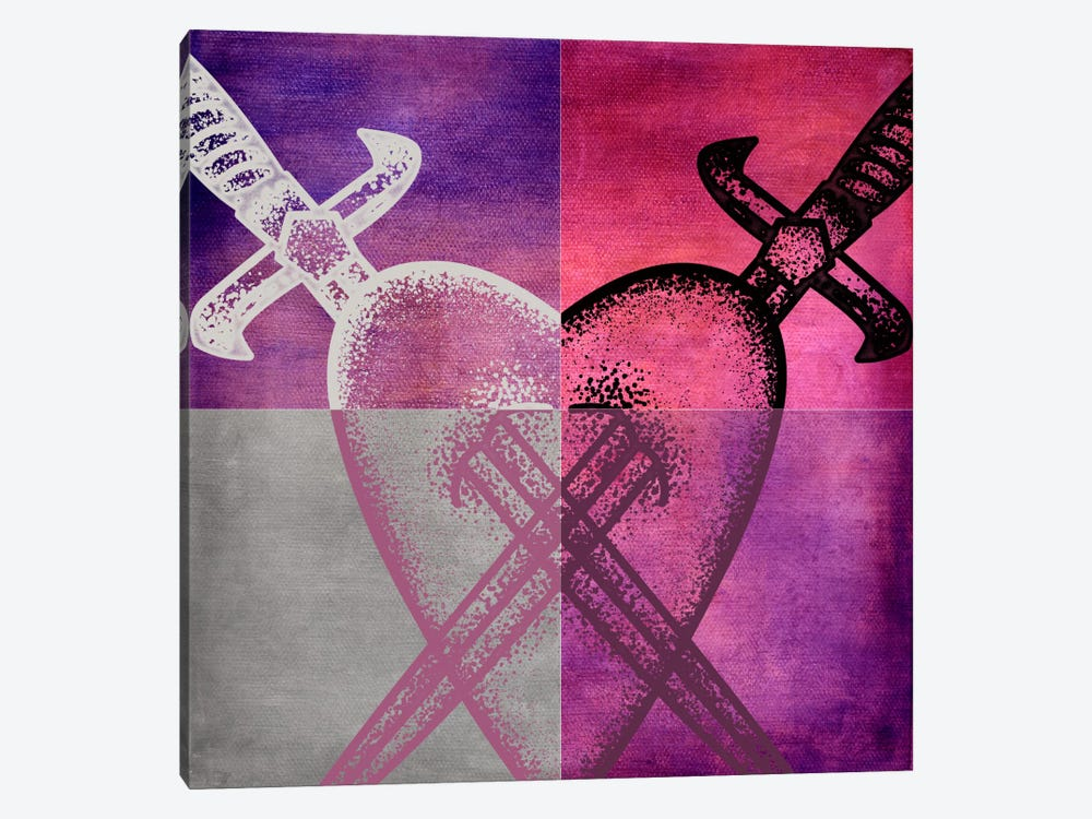 Stabbed in the Heart I by 5by5collective 1-piece Canvas Wall Art