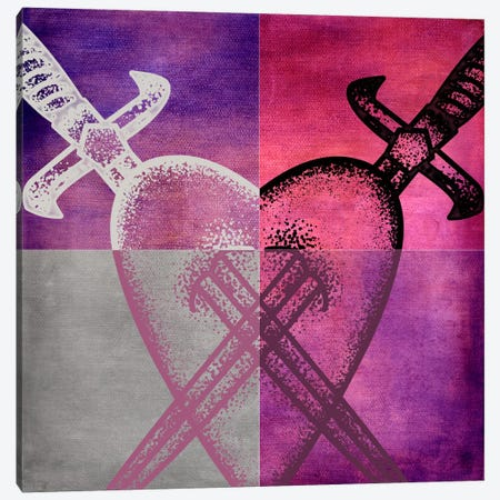 Stabbed in the Heart I Canvas Print #PTA16} by 5by5collective Canvas Art