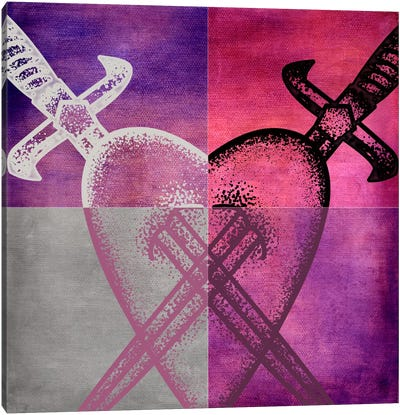 Stabbed in the Heart I Canvas Art Print