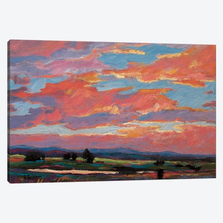 Pink Clouds Over The Foothills 3-Piece Canvas #PTB104} by Patty Baker Canvas Art Print