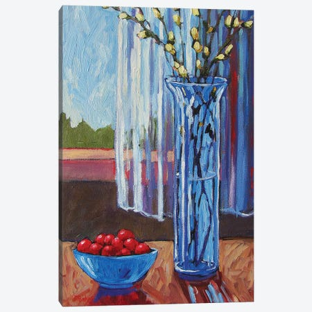 Pussy Willows and Cherries Canvas Print #PTB111} by Patty Baker Art Print