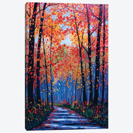 Autumn Path in Old Kinderhook III Canvas Print #PTB11} by Patty Baker Canvas Art
