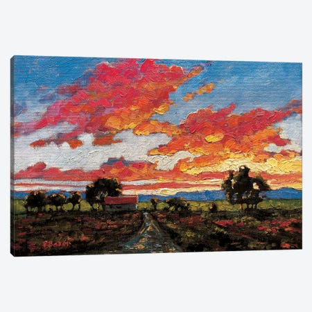 Sunset On The Plains Canvas Print #PTB140} by Patty Baker Canvas Wall Art
