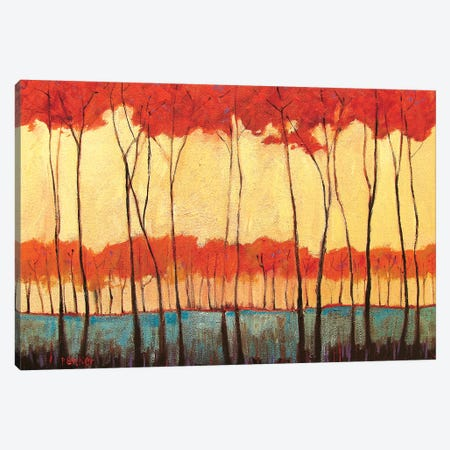 Tall Red Trees 3-Piece Canvas #PTB141} by Patty Baker Canvas Art