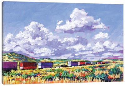 Train Leaving Gallup, New Mexico Canvas Art Print