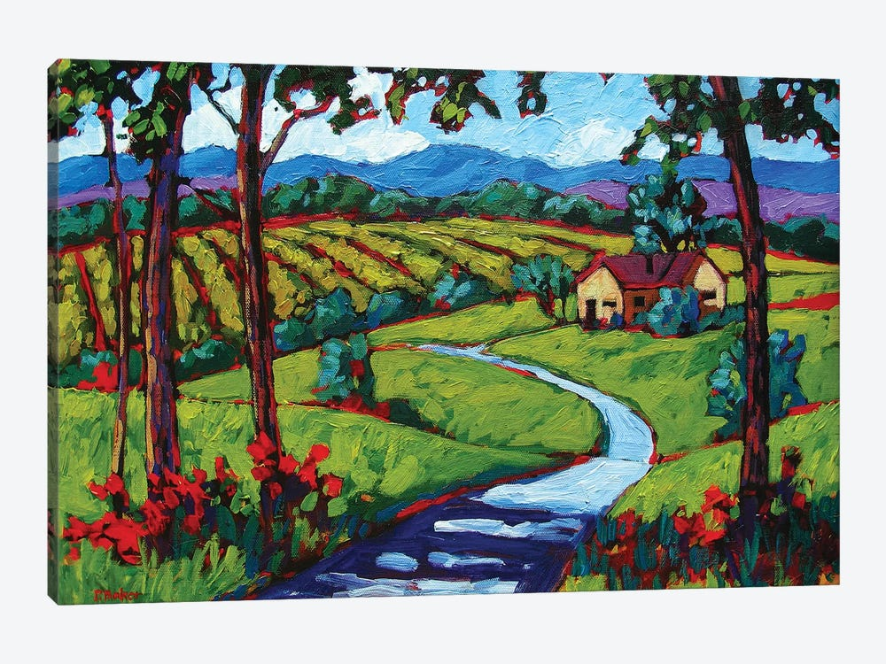 Young America Road in Summer by Patty Baker 1-piece Art Print