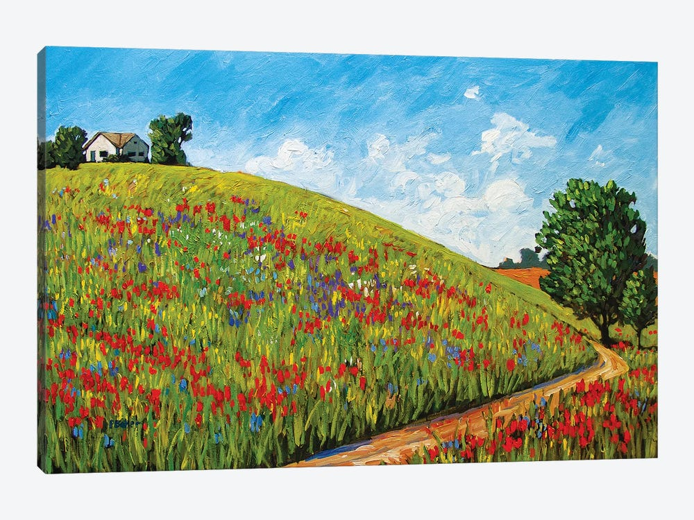 House on a Hill by Patty Baker 1-piece Canvas Art Print