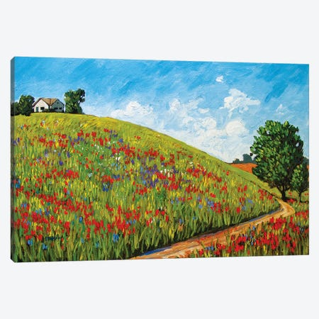 House on a Hill Canvas Print #PTB162} by Patty Baker Canvas Artwork