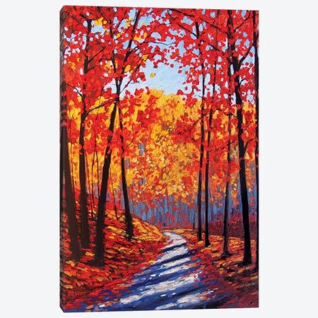 Autumn Path In The Hudson River Valley III Canvas Print #PTB165} by Patty Baker Canvas Art Print