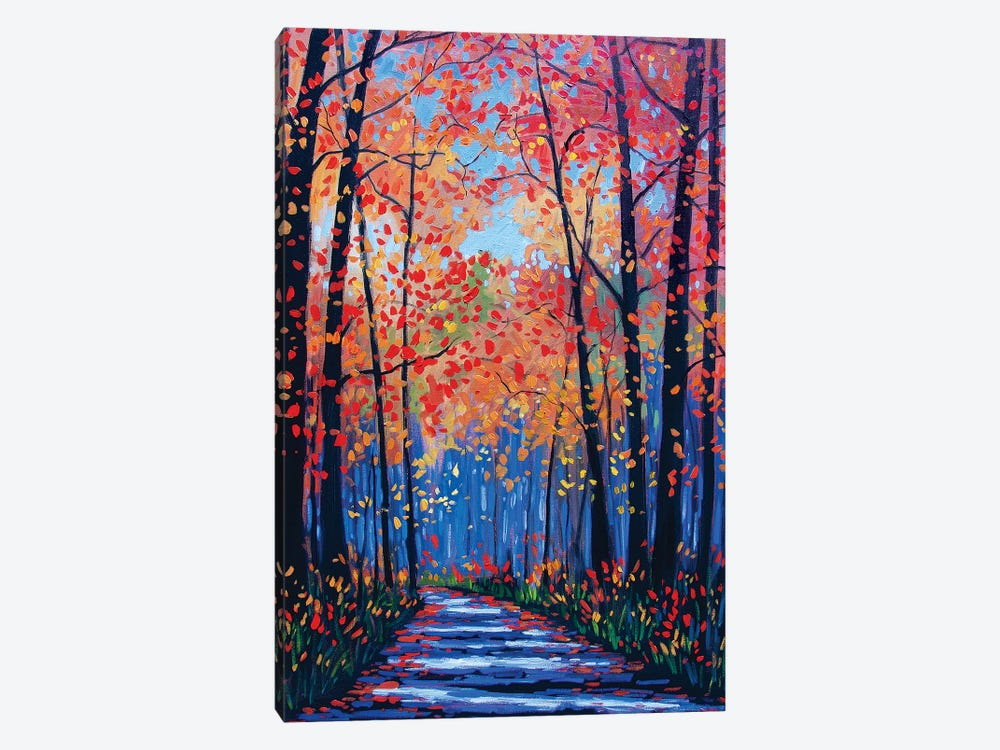 Autumn Path In The Hudson River Valley VIII by Patty Baker 1-piece Canvas Art