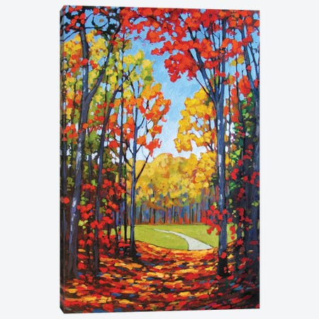 Autumn Path VIII Canvas Print #PTB16} by Patty Baker Canvas Art Print