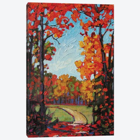 Autumn Path VIII Canvas Print #PTB17} by Patty Baker Canvas Art Print