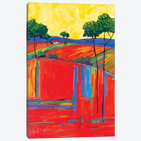 Fields In Fauve I 3-Piece Canvas #PTB184} by Patty Baker Canvas Print