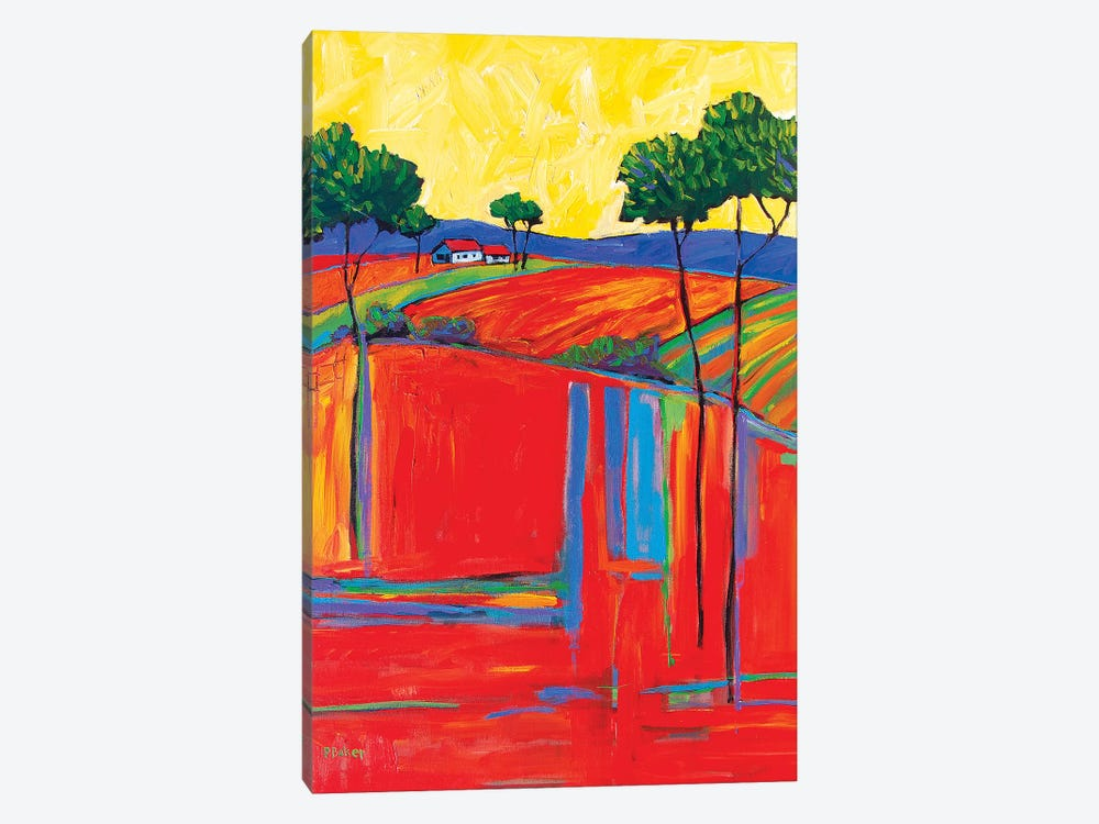 Fields In Fauve I by Patty Baker 1-piece Canvas Print