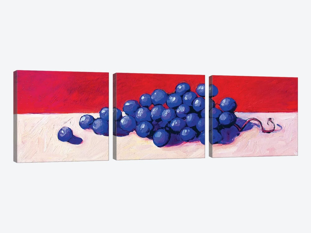 Grapes by Patty Baker 3-piece Canvas Artwork