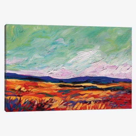 Green Sky Landscape Canvas Print #PTB196} by Patty Baker Canvas Wall Art