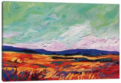 Green Sky Landscape Canvas Art Print