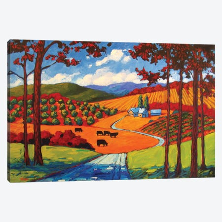 I-25 Young America Road Cows Canvas Print #PTB197} by Patty Baker Canvas Artwork