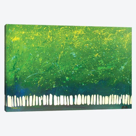 Abstract Green Trees Canvas Print #PTB1} by Patty Baker Canvas Artwork