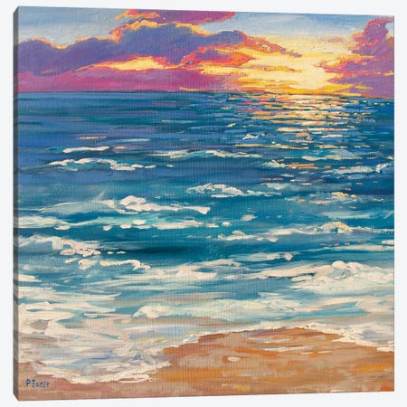 Montauk Sunrise Canvas Print #PTB200} by Patty Baker Canvas Art Print