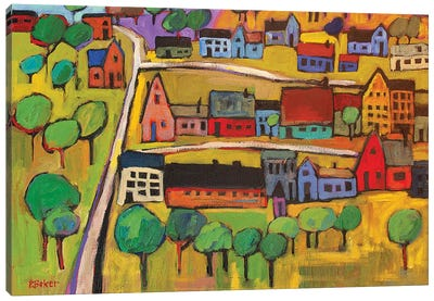 Small Town In Fauve II Canvas Art Print