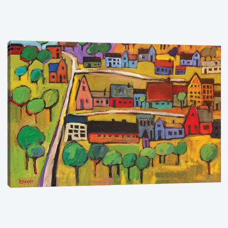 Small Town In Fauve II Canvas Print #PTB212} by Patty Baker Canvas Wall Art