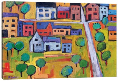 Small Town In Fauve IV Canvas Art Print