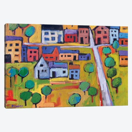 Small Town In Fauve IV Canvas Print #PTB213} by Patty Baker Canvas Art