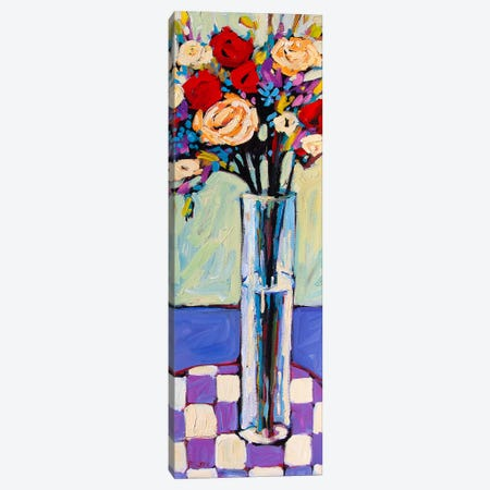 Still Life With Checkered Tablecloth Canvas Print #PTB216} by Patty Baker Art Print
