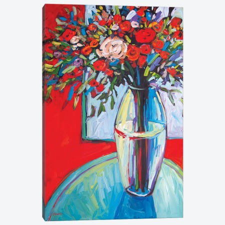 Still LIfe With Flowers In Vase III Canvas Print #PTB223} by Patty Baker Canvas Art Print