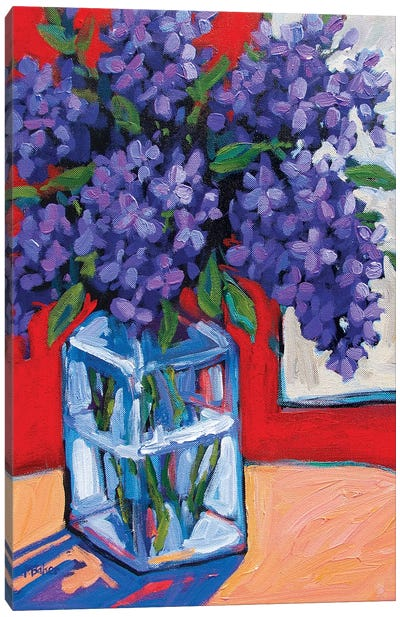 Still Life With Lilacs Canvas Art Print