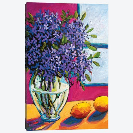Still Life With Lilacs and Lemons Canvas Print #PTB225} by Patty Baker Canvas Artwork
