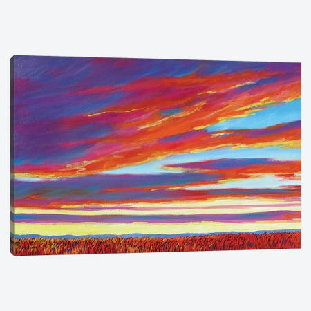 Sunset Over the Plains Canvas Print #PTB229} by Patty Baker Canvas Art Print