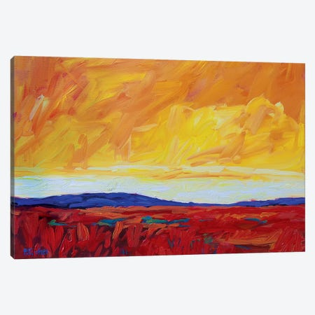 Yellow Sky Over Red Fields Canvas Print #PTB237} by Patty Baker Canvas Art Print
