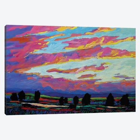 Boulder Sunset Canvas Print #PTB24} by Patty Baker Canvas Art