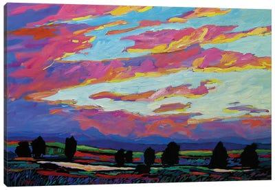 Boulder Sunset Canvas Art Print