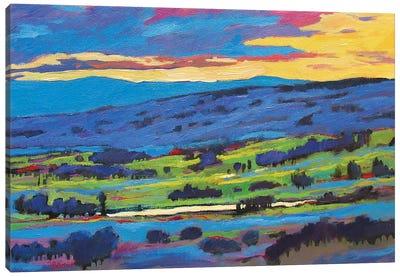 Boulder Valley Sunset  Canvas Art Print