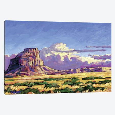 Fajada Butte, Chaco Canyon, New Mexico 3-Piece Canvas #PTB38} by Patty Baker Canvas Artwork