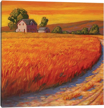 Farm Hous in Nebraska Canvas Art Print