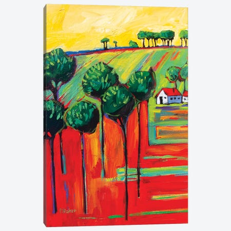 Fauve Landscape II 3-Piece Canvas #PTB42} by Patty Baker Canvas Art Print