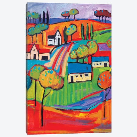 Fauve Landscape III 3-Piece Canvas #PTB43} by Patty Baker Canvas Print