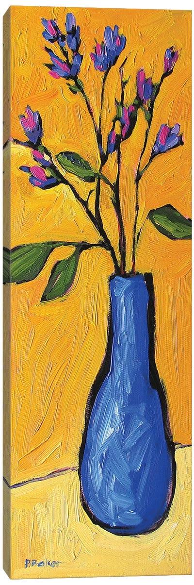 Floral Yellow Canvas Art Print
