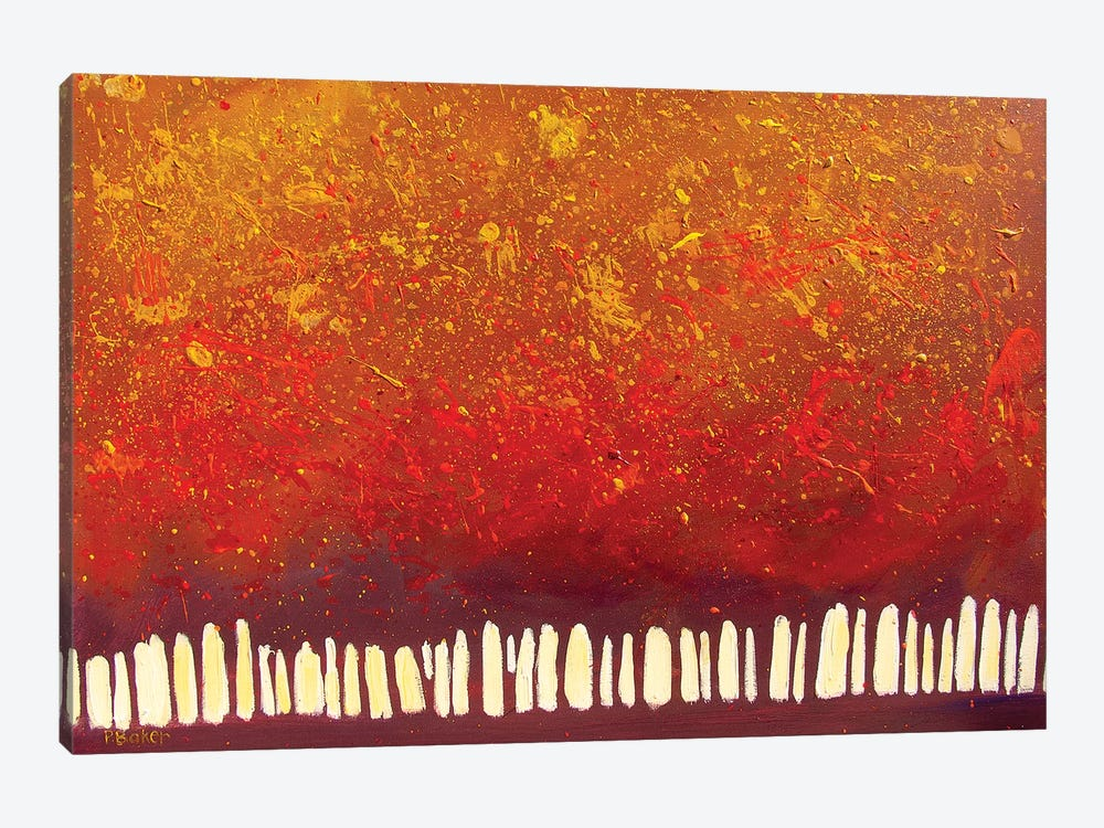 Abstract Red Trees by Patty Baker 1-piece Art Print