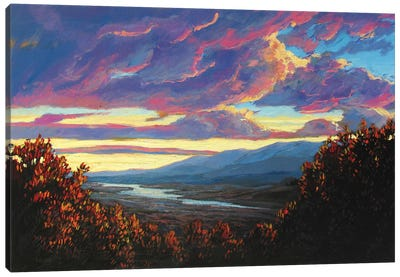 Hudson Valley Sunset XII Canvas Art Print