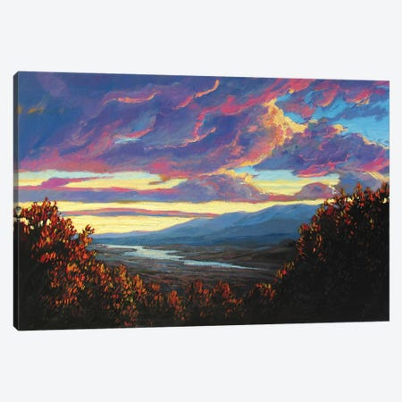 Hudson Valley Sunset XII 3-Piece Canvas #PTB66} by Patty Baker Canvas Wall Art
