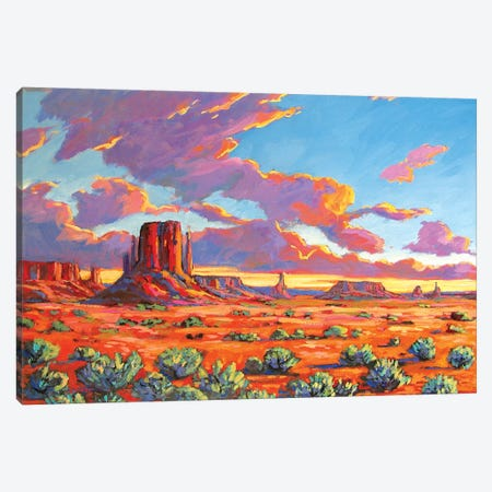 Monument Valley Sunset Canvas Print #PTB81} by Patty Baker Art Print