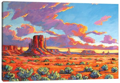 Monument Valley Sunset Canvas Art Print